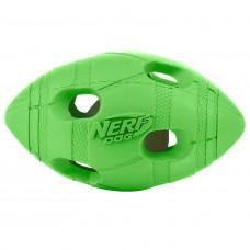 Игрушка для собак Nerf Мяч для регби светящийся малый Зеленый